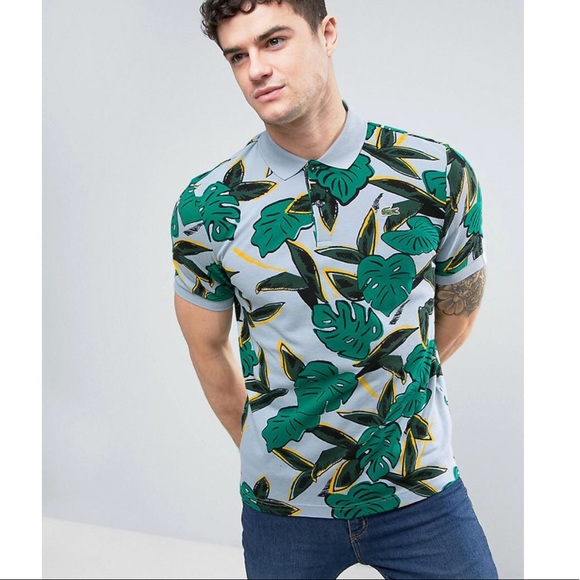 a21eafd14a Lacoste L!ve | Tropical Print Polo